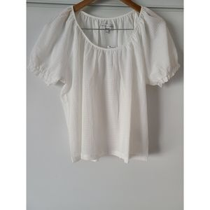Madewell Texture and Thread Peasant Top